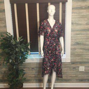 NWT Calvin Klein Faux Wrap Black Dress Size 8 & 4
